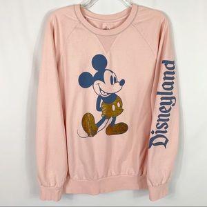 Disney Parks Mickey Mouse Pullover Sweatshirt Sz L